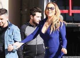 Mariah Carey Flashes Nipples as She Goes Braless in Skintight Dress