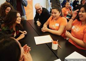 Selena Gomez Shares Message of Empowerment to High School Students During Surprise Visit