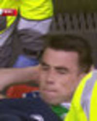 seamus coleman injury: everton star stretchered off in ireland v wales after horror tackle