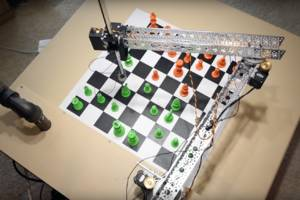 the raspberry turk is a diy chess robot with instructions to build your own