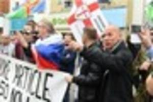english defence league decision to cancel march in derby called...