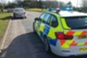one person injured as two-vehicle crash closes a165 roundabout