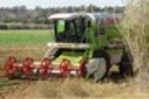 Man cut free after getting leg stuck in farm machinery is...