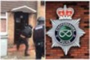 VIDEO: Police raid Tunstall house in drugs operation