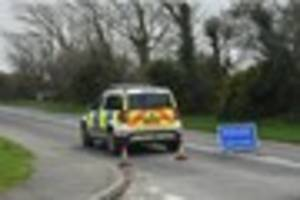 person airlifted to hospital after car and lorry crash at newquay...