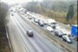 Live updates from M11 multi-vehicle crash causing significant...