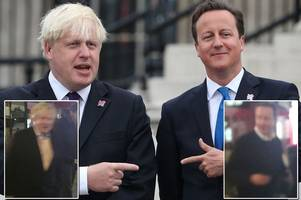 Best of Brexit pals as Tory toffs David Cameron and Boris Johnson kiss and make up after EU fall out