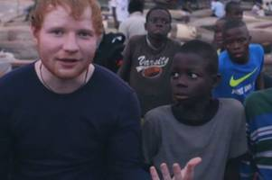 Ed Sheeran saves street boys in Liberia out of his own pocket after hearing rape horror stories on Comic Relief