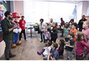 photos of the mario sports superstars launch tournament at nintendo ny store are available on business wire's website and the associated press photo network