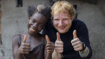exclusive: ed sheeran moved to tears by liberia trip
