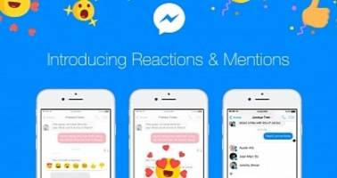 Facebook Officially Introduces Reactions and Mentions to Messenger
