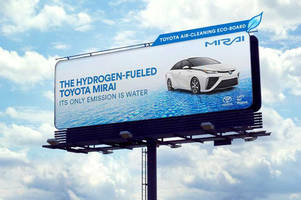 New Toyota Mirai billboards in California help clear the air