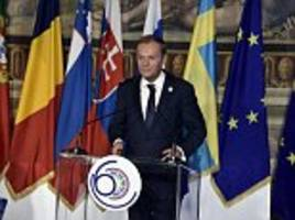 eu president tusk warns of complete breakdown of the union