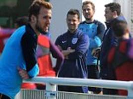 england train ahead of world cup qualifier with lithuania