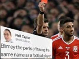 neil taylor sparks angry twitter response at the wrong man