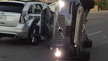 Self-Driving Uber With Passenger Involved In Arizona Collision