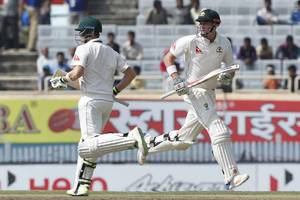 Fourth cricket Test : Australia were 131/1 against India at lunch