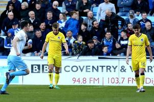 bristol rovers stunned by late goal from coventry city to leave play-off hopes in tatters