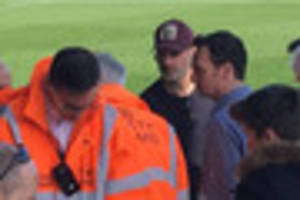 The Walking Dead actor Andrew Lincoln spotted at Yeovil Town's...