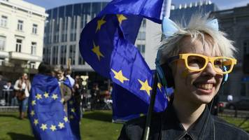 eu treaty anniversary sees protests and marches in major cities - in pictures