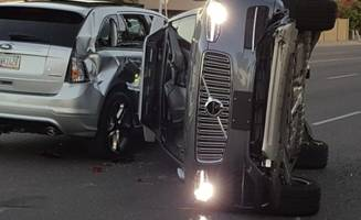 operating in autonomous mode, uber self-driving vehicle involved in crash