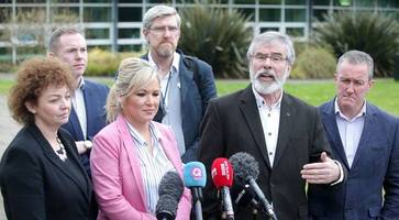 gerry adams claims dup and downing st creating talks impasse with 'minimalist' approach