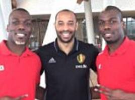 Pogba brothers Florentin and Mathias meet 'legend' Henry