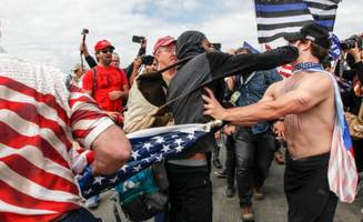 caught on tape: trump rally turns violent after provocations from 'counter-protesters'