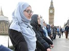 muslim women stand in solidarity for london terror victims