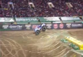 Awesome Monster Truck Front Flip In Vegas!