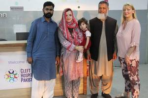 Swansea parents travel 6,000 miles to help pay medical fees for a young baby in Pakistan