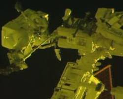 spacewalking french, us astronauts begin upgrade to orbiting lab