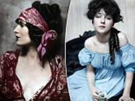 Early fashion photographs turned to colour