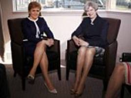 theresa may and sturgeon meet after independence bombshell