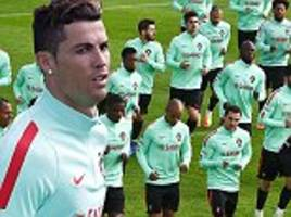 Cristiano Ronaldo put through his paces as Portugal train