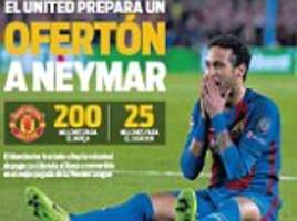 Manchester United 'prep offer for Barcelona star Neymar'