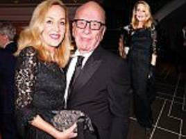 jerry hall cosies up to rupert murdoch at eno in london