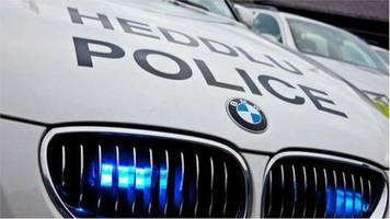 a4066 laugharne road blocked after accident