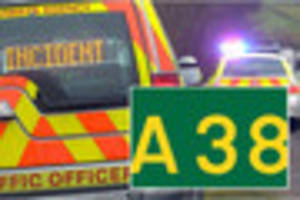 two cars crash on a38, leaving one lane blocked