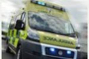 Two men taken to hospital following three-car accident on Upper...