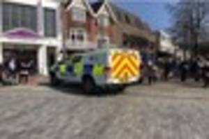 police have been called to an incident at royal victoria place