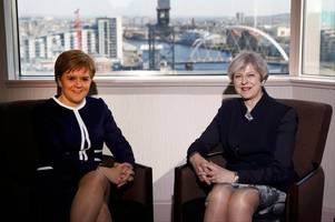 Nicola Sturgeon and Theresa May meet in Glasgow as Prime Minister prepares to trigger Brexit