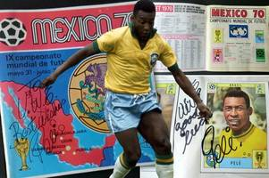 the world's most expensive panini album, signed by brazilian legend pele, has been auctioned off for £10,450