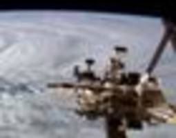 terrifying footage shows cyclone debbie from outer space