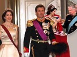Princess Mary dazzles at state banquet with Belgian royals