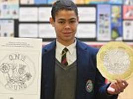 schoolboy who designed new £1 is now focussing on a-levels