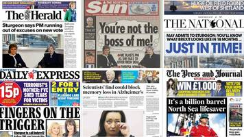 scotland's papers: 'great british stand-off' and oil find