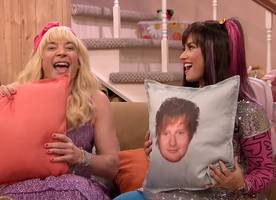 Watch Demi Lovato Practice Kissing Using Ed Sheeran Pillow on 'Ew!' With Jimmy Fallon