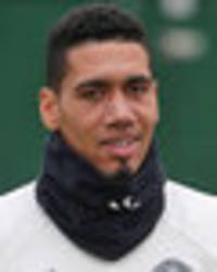 chris smalling injury: man united star pictured in leg brace ahead of west brom showdown