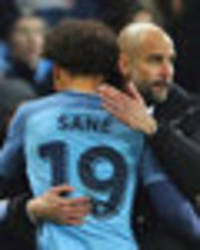 thanks boss! leroy sane hails man city manager pep guardiola for making him prem superstar